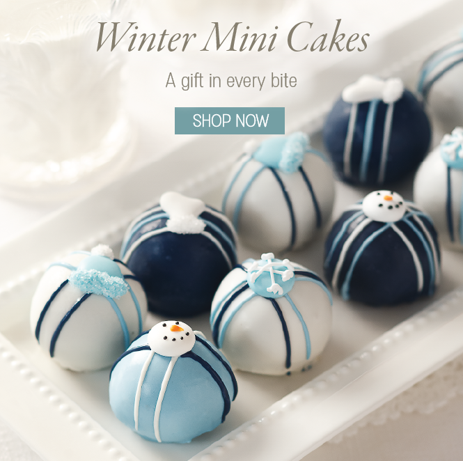 Winter Mini Cake Bites