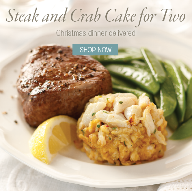 Steak and Crab Cake Dinner