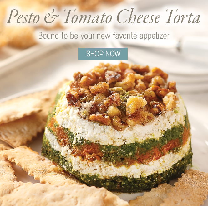 Pesto & Tomato Cheese Torta